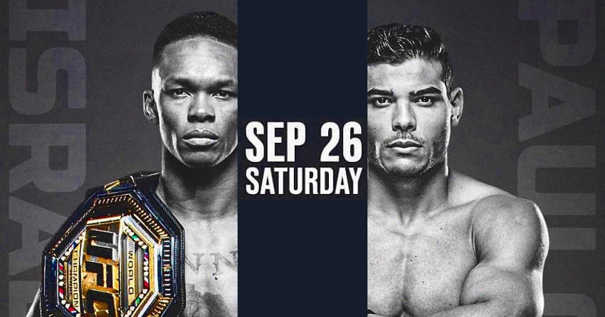 Israel Adesanya's last fight