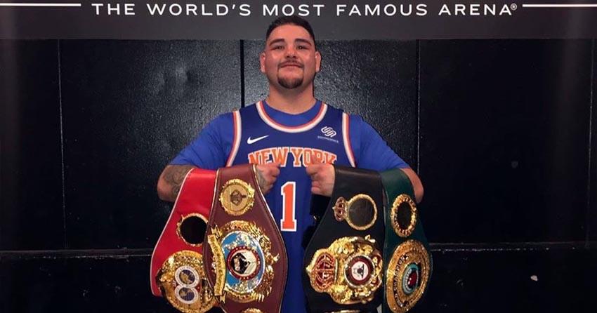 World heavyweight champion Andy Ruiz Jr