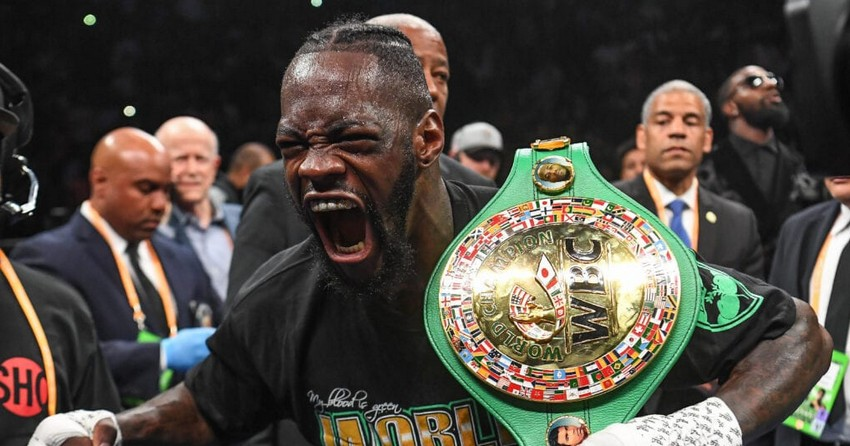 World heavyweight champion Deontay Wilder