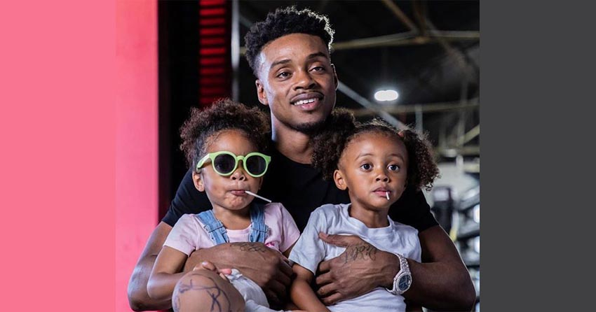 Errol Spence Jr with daughters
